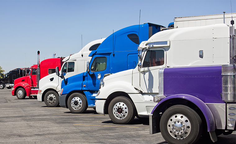 fleet service image with semi trucks