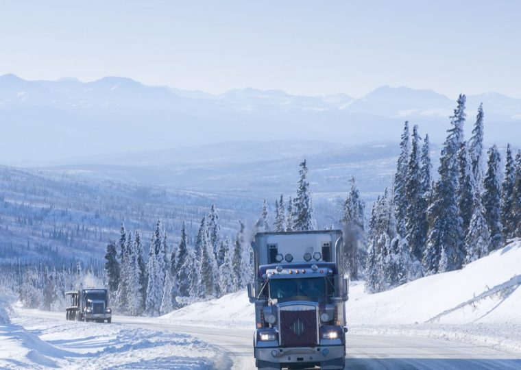 winter semi-truck driving and prevention of breakdowns
